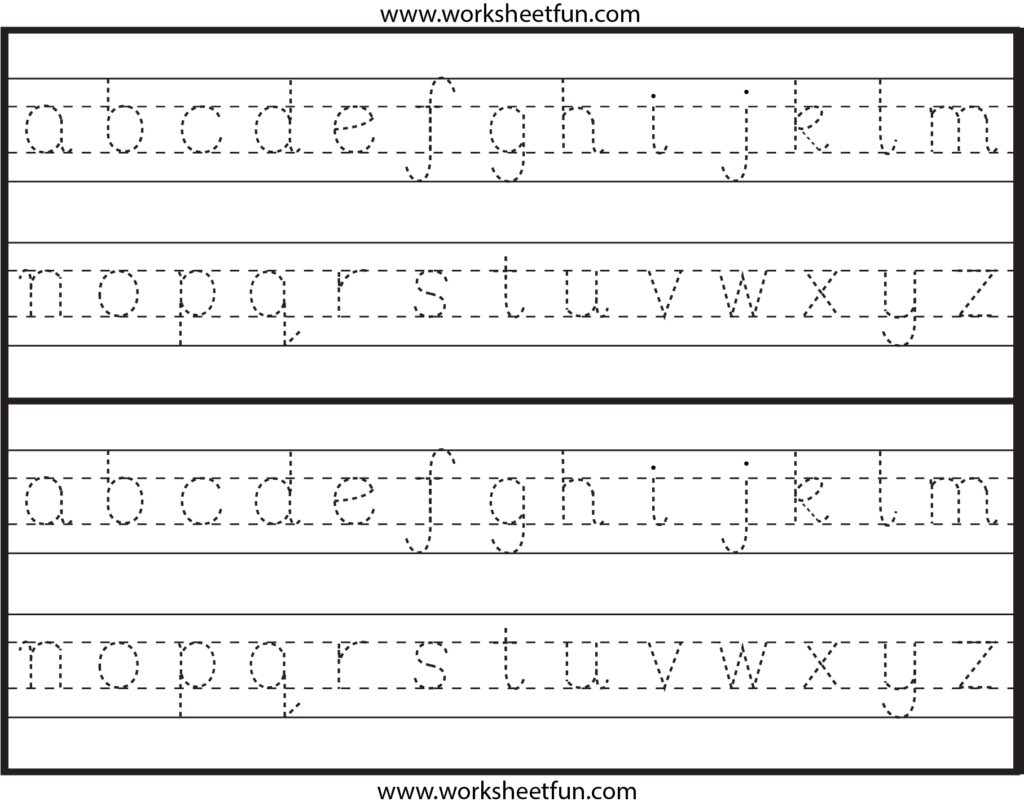 Lowercase+Alphabet+Letter+Tracing+Worksheets   Handwriting