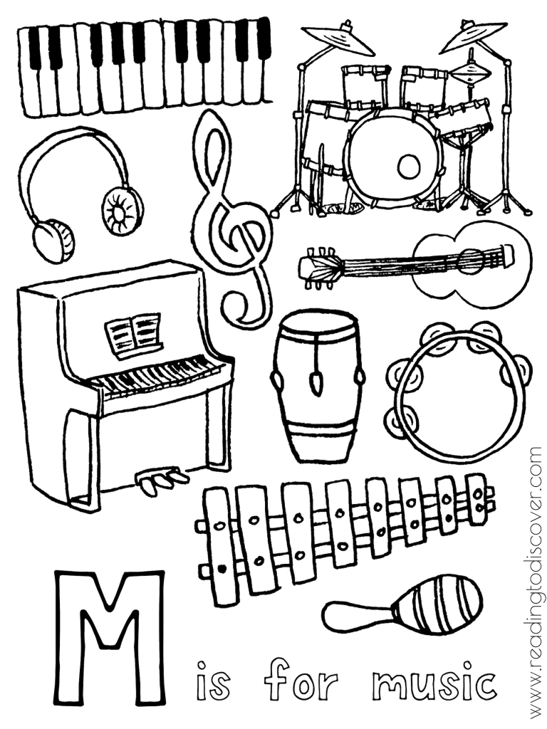 M Is For Music Activities For Preschoolers | Preschool Music within Letter M Worksheets Soft School