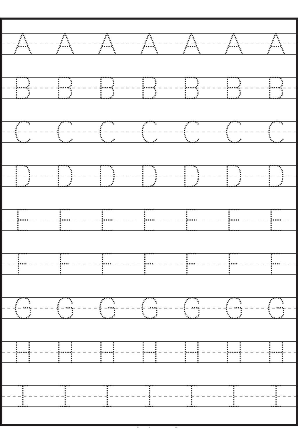 Math Worksheet ~ Alphabet Trace Sheets Printables Printable intended for Alphabet Tracing Sheets For Kindergarten