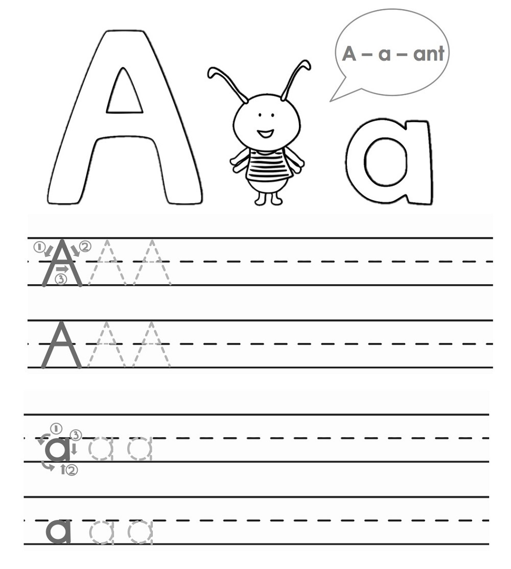 Math Worksheet : Alphabet Tracing Worksheets For for Alphabet Tracing Worksheets A