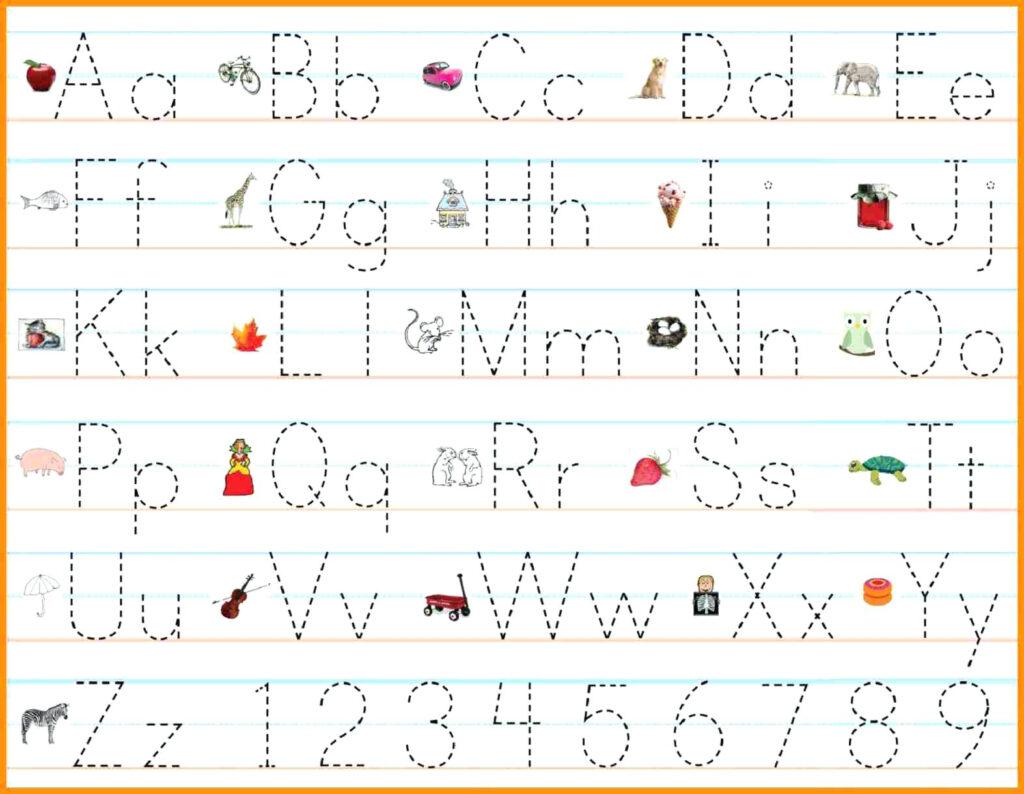 Math Worksheet : Alphabet Writing Practice Sheets Pdf Free Within Alphabet Tracing Maker