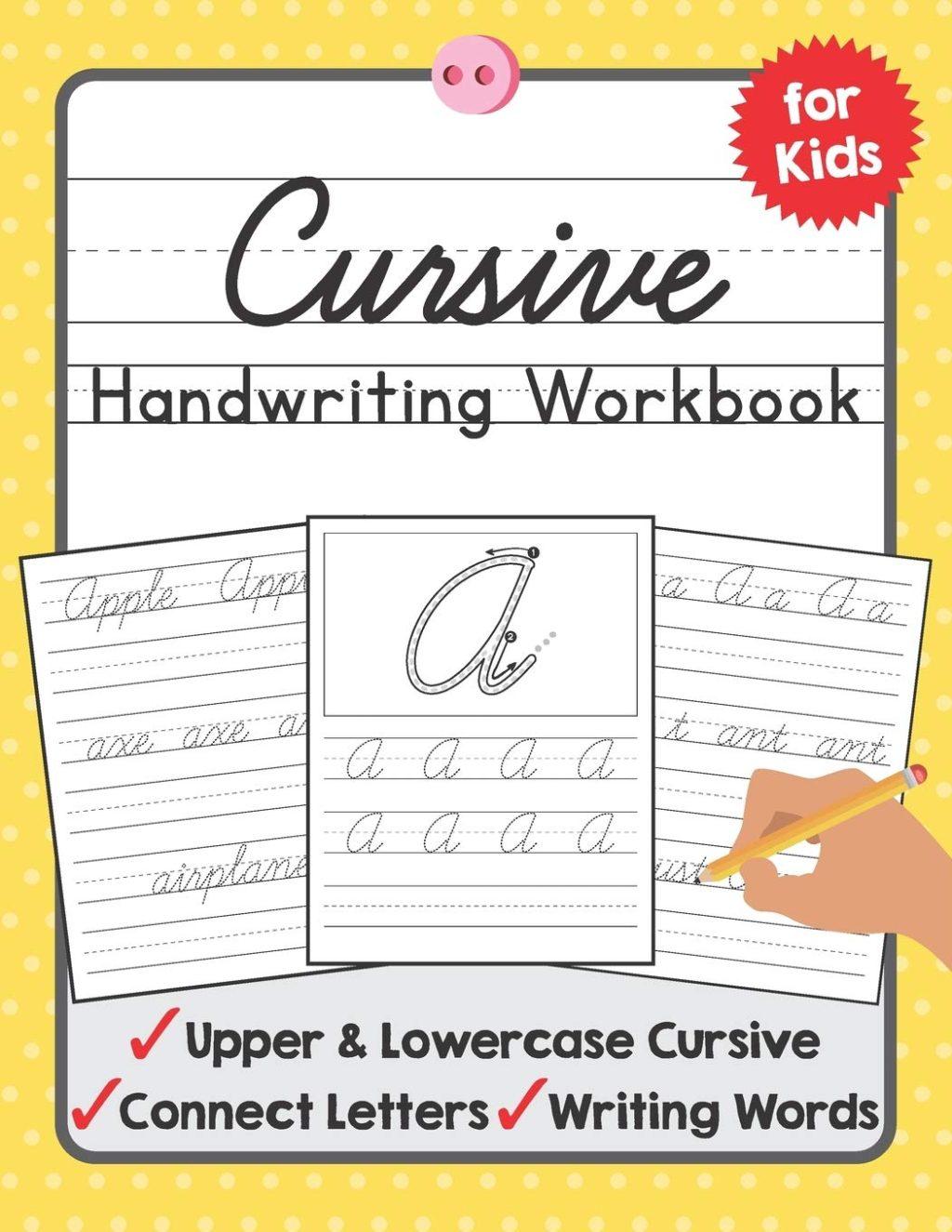 Math Worksheet ~ Cursive Handwriting Workbook For Kids