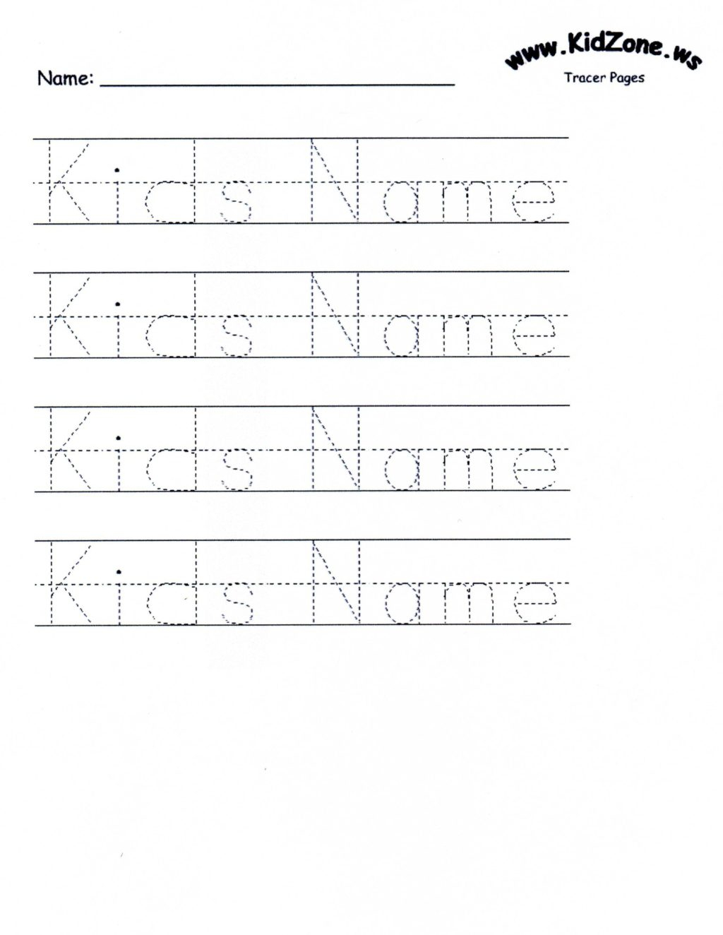 Math Worksheet ~ Customizable Printable Letter Pages Name