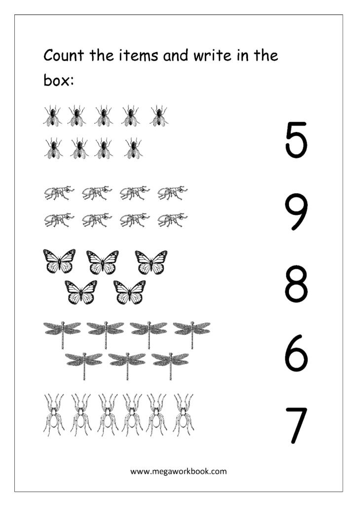 Math Worksheet ~ Free Number Worksheets For Kindergarten Intended For Letter 10 Worksheets