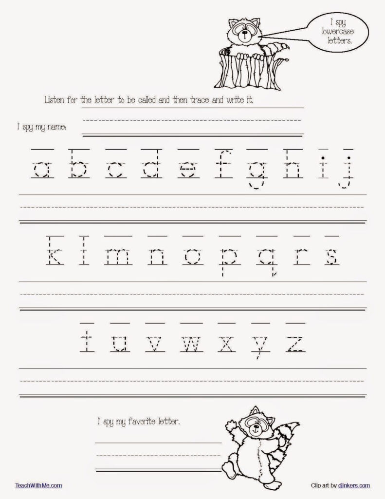 Math Worksheet Free Printable Handwriting Worksheets For Within Alphabet Handwriting Worksheets For Preschool