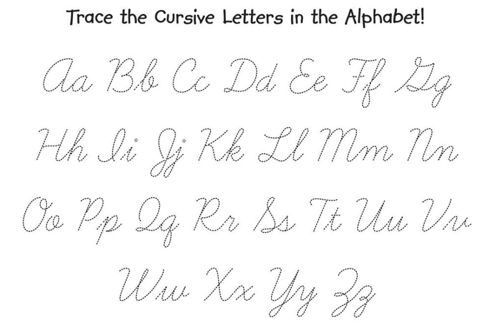 Math Worksheet : Free Printable Tracing Cursive