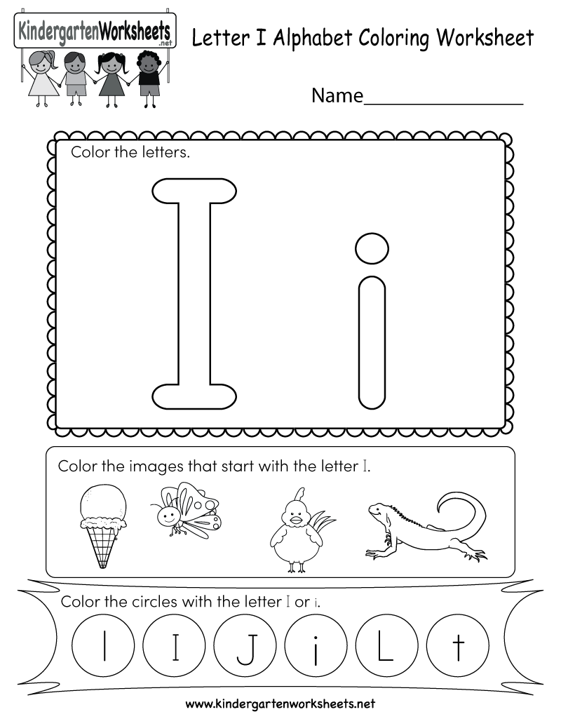 Math Worksheet : Letter A Worksheets For Kindergarten The intended for Letter I Worksheets For Kindergarten
