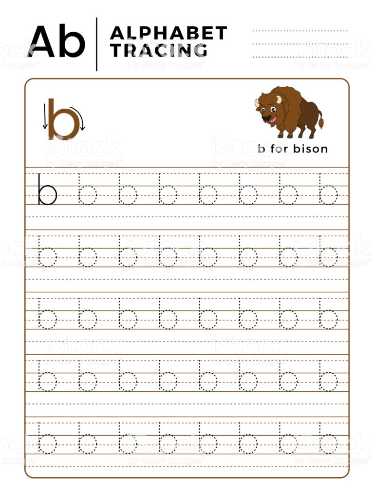 Math Worksheet ~ Letter Alphabet Tracing Book With Example with regard to Letter B Tracing Worksheets Free