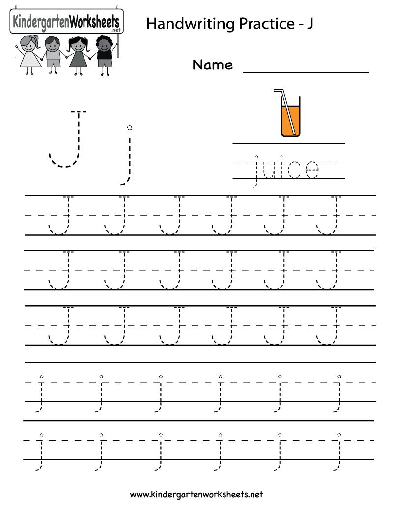 Math Worksheet : Letter J Worksheets Kindergarten Printable in Letter J Worksheets Free