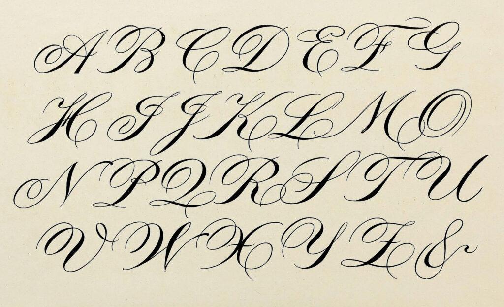 Math Worksheet : Lettering Design Calligraphy Cursive