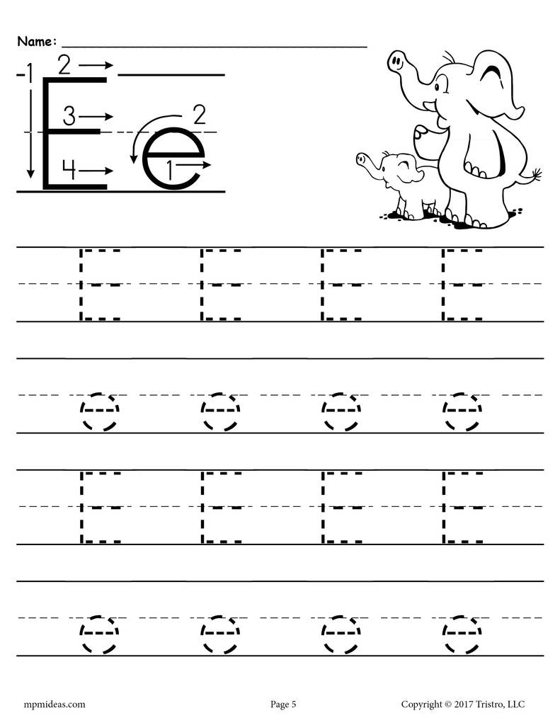 Math Worksheet : Marvelous Letter Tracing Worksheets throughout Letter E Tracing Worksheets Pdf