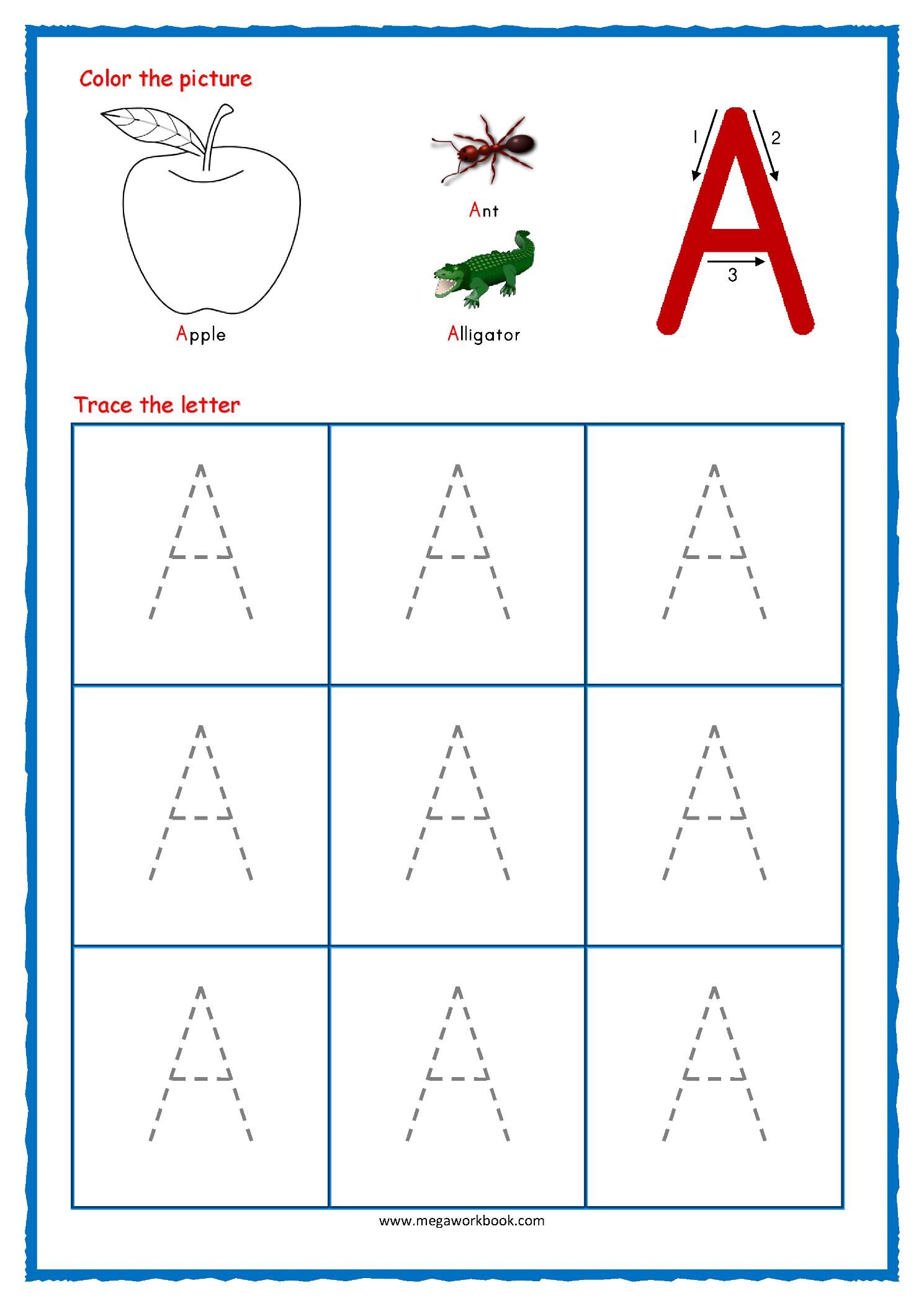 Math Worksheet : Math Worksheet Alphabetractice Forreschool in Alphabet Tracing Book Pdf