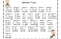 Preschool Alphabet Tracing Worksheets