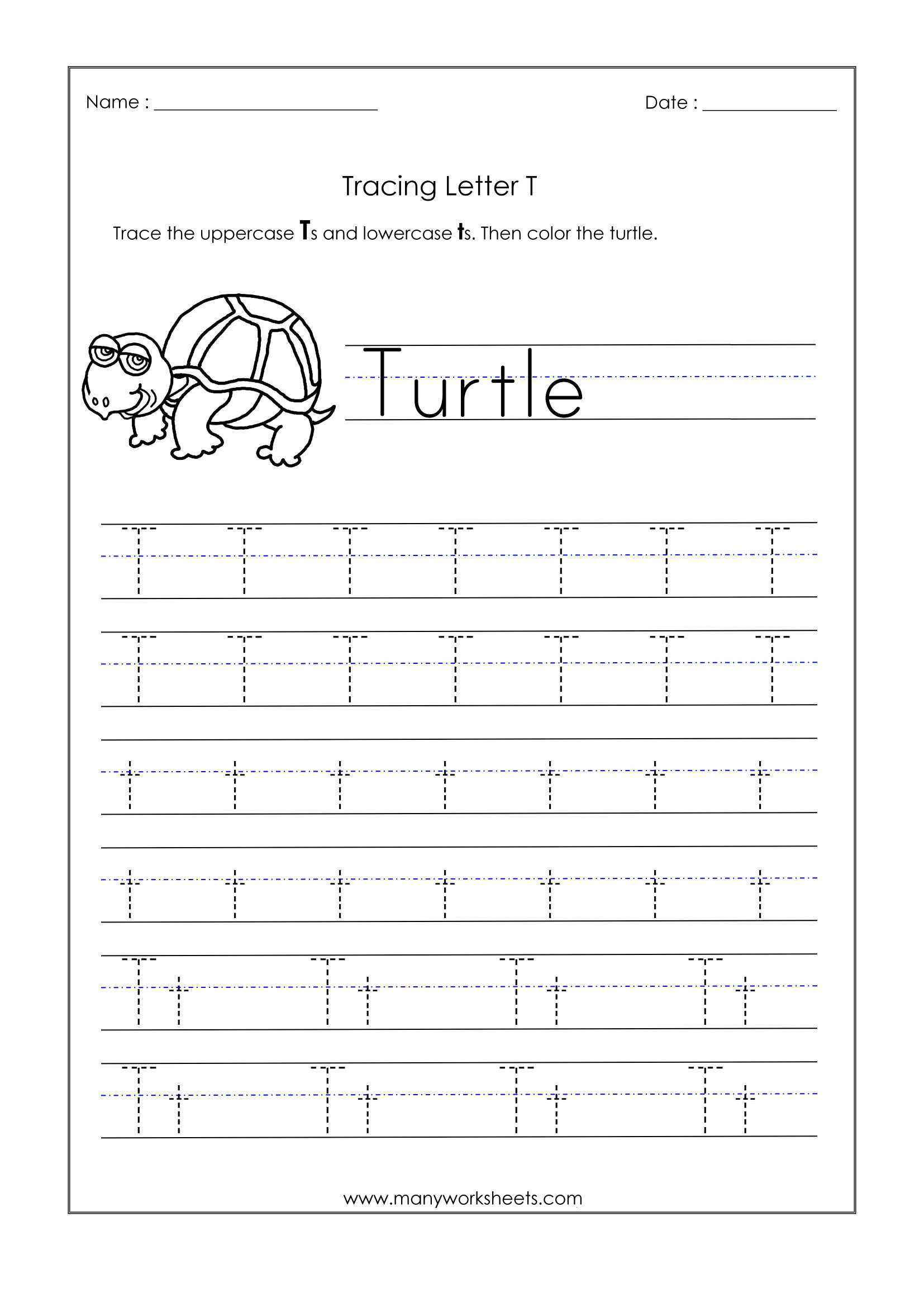 Math Worksheet : Phenomenal Alphabet Writing Worksheetsor inside Letter T Tracing Page