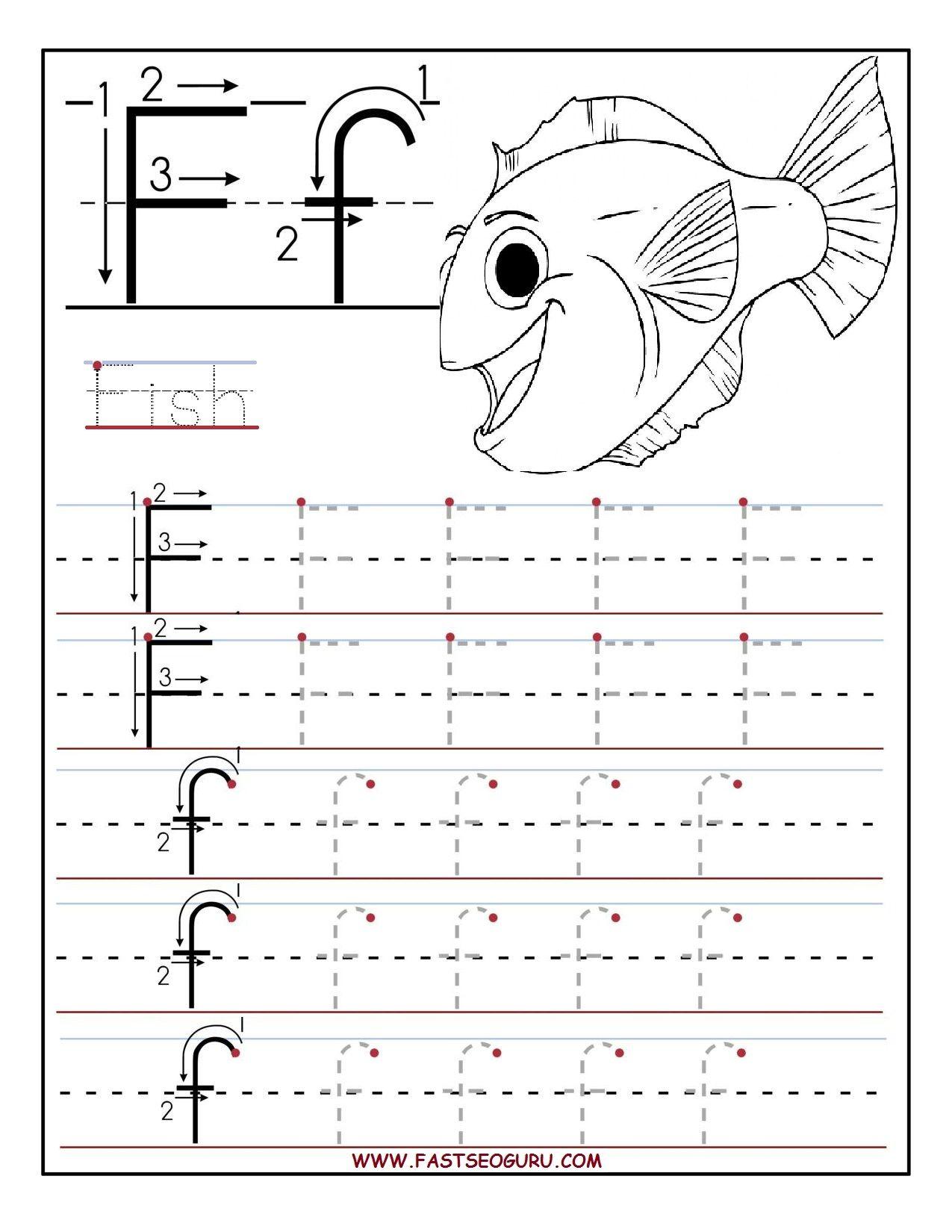 Math Worksheet : Printable Letter Tracingheets For Preschool with Letter F Tracing Worksheets Pdf