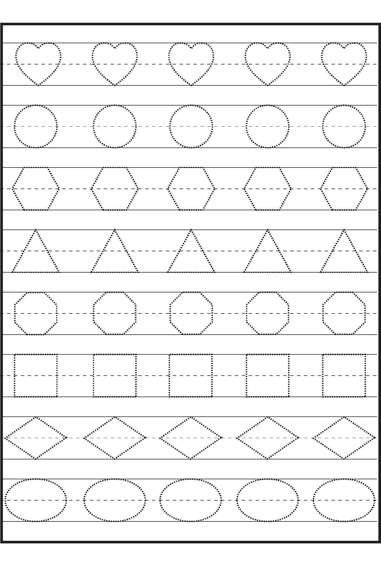 Math Worksheet : Printable Preschool Tracing Worksheets For