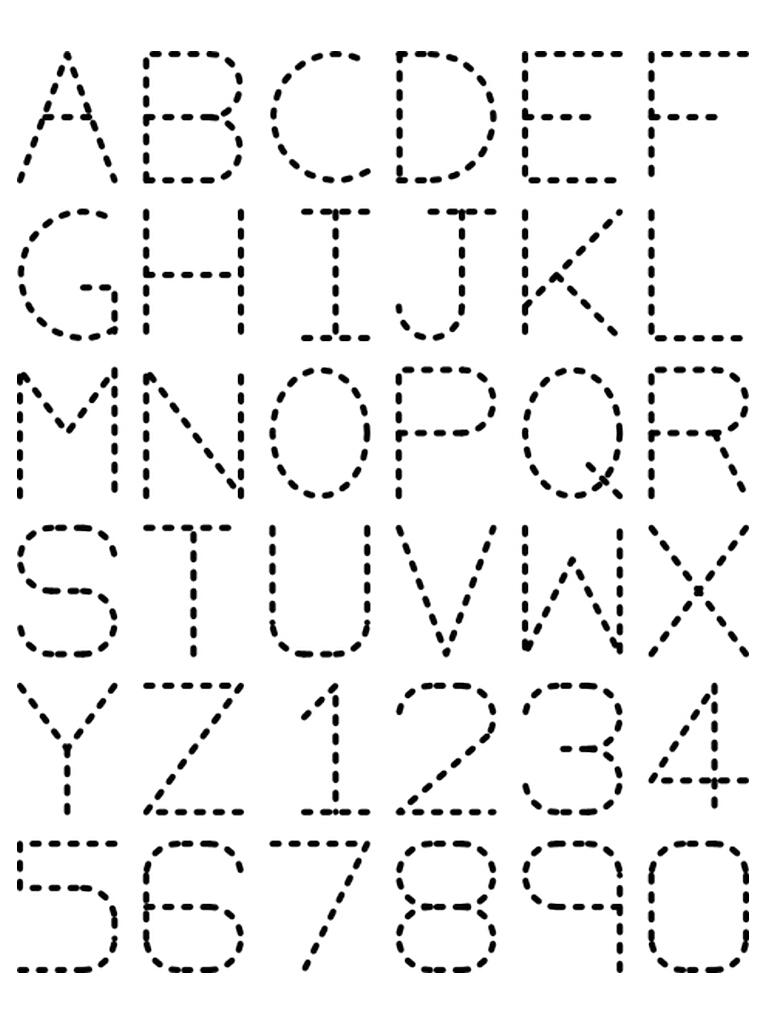 Math Worksheet : Traceable Alphabet Nuttin But Preschool