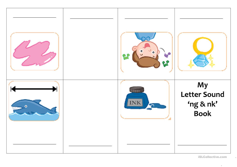 Mini Book 'letter Sound Of Ng & Nk' - English Esl Worksheets inside Letter Ng Worksheets