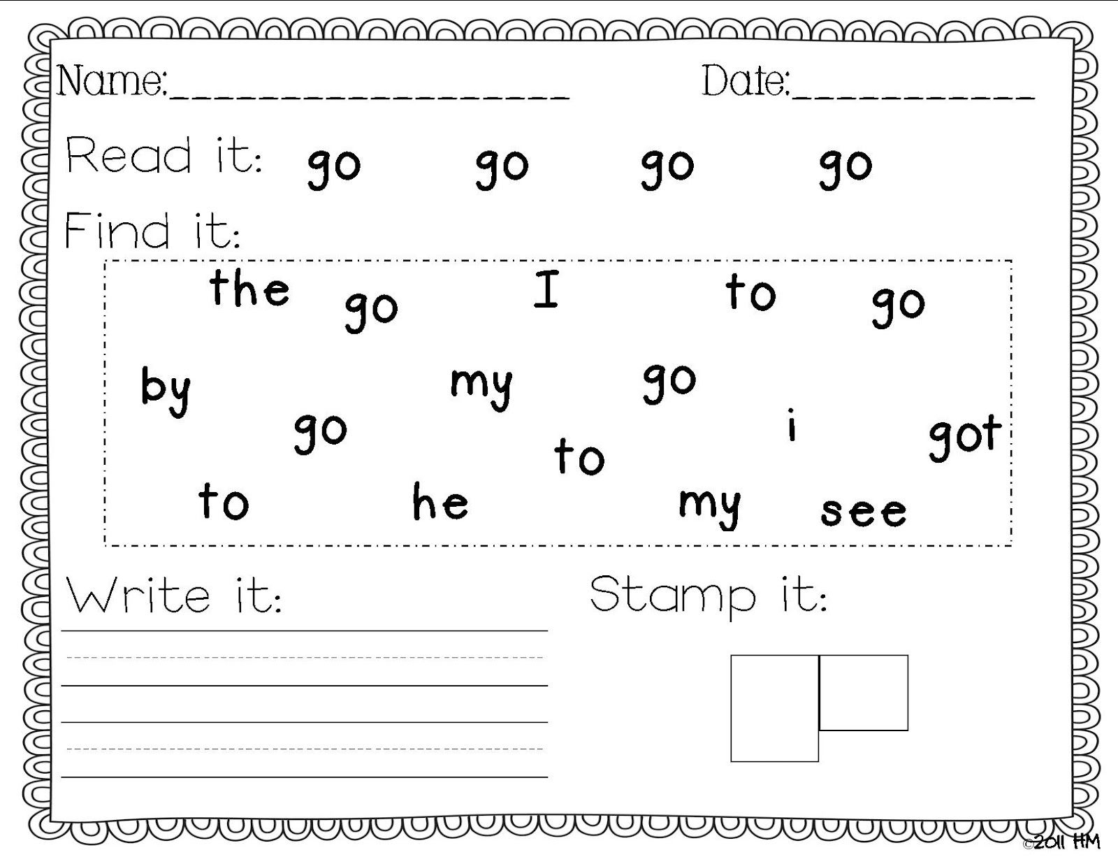 Miss Kindergarten | Sight Word Writing Practice, Sight Words