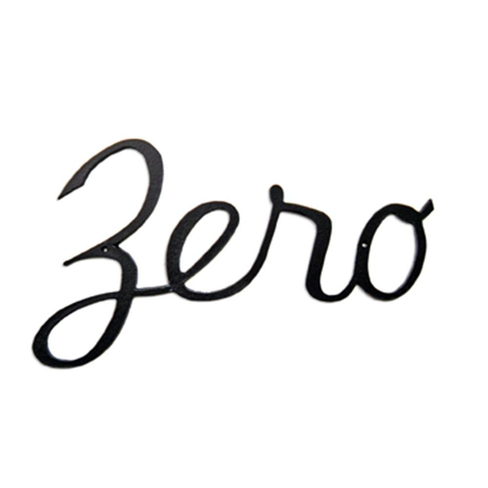 Montague Metal Products 5.25 In. Aluminum Script House Number Zero-Shn-0 -  The Home Depot