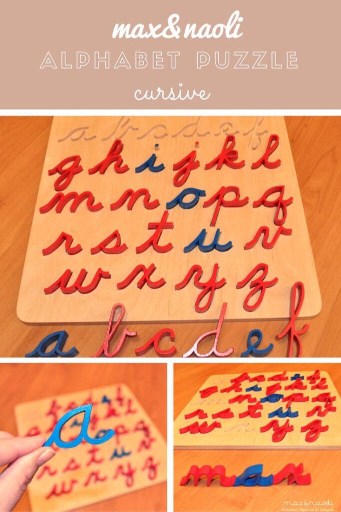 Montessori Curisve Alphabet Puzzle