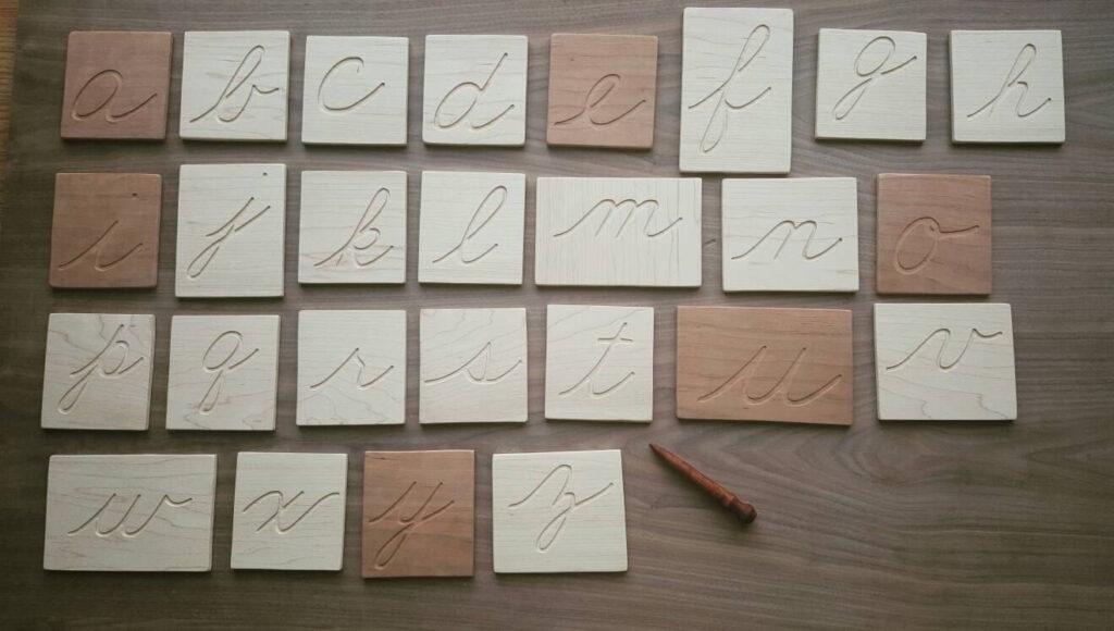 Montessori Cursive Letters, Lowercase Cursive Letters