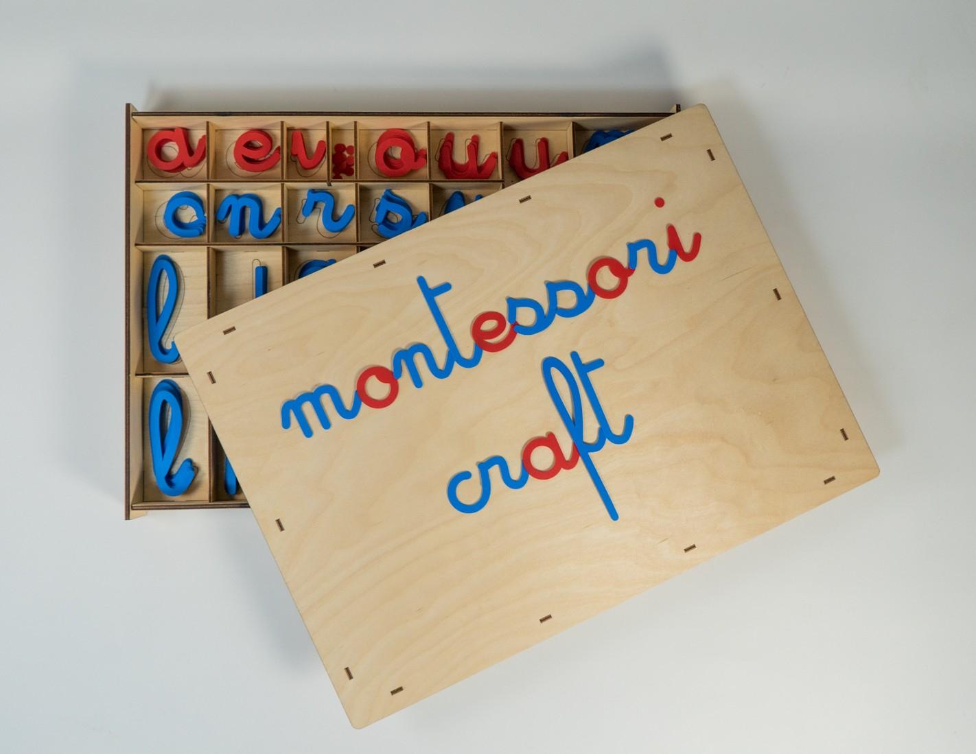 Movable Alphabet With European Cursive Letters