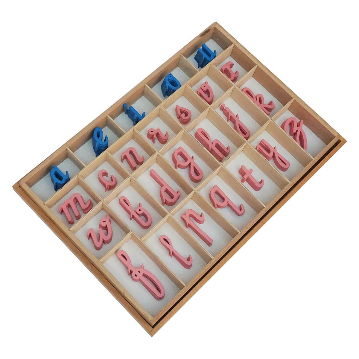 Moveable Alphabet Cursive Large Wooden