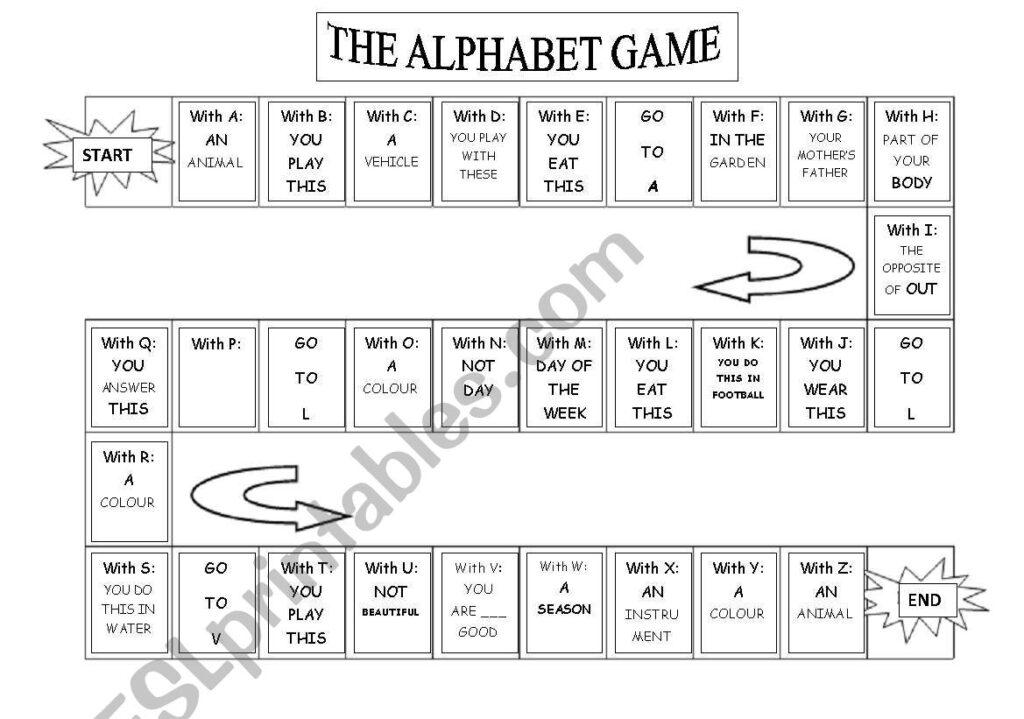 My Alphabet Game   Esl Worksheetnuroma Intended For Alphabet Game Worksheets