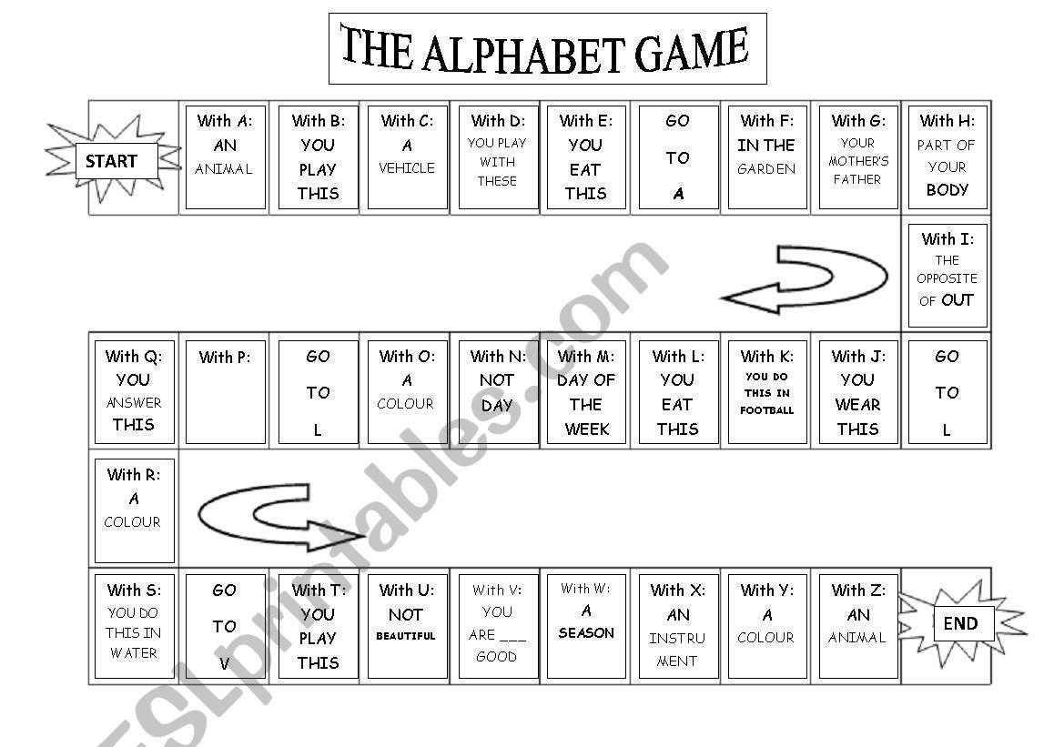 My Alphabet Game - Esl Worksheetnuroma intended for Alphabet Game Worksheets
