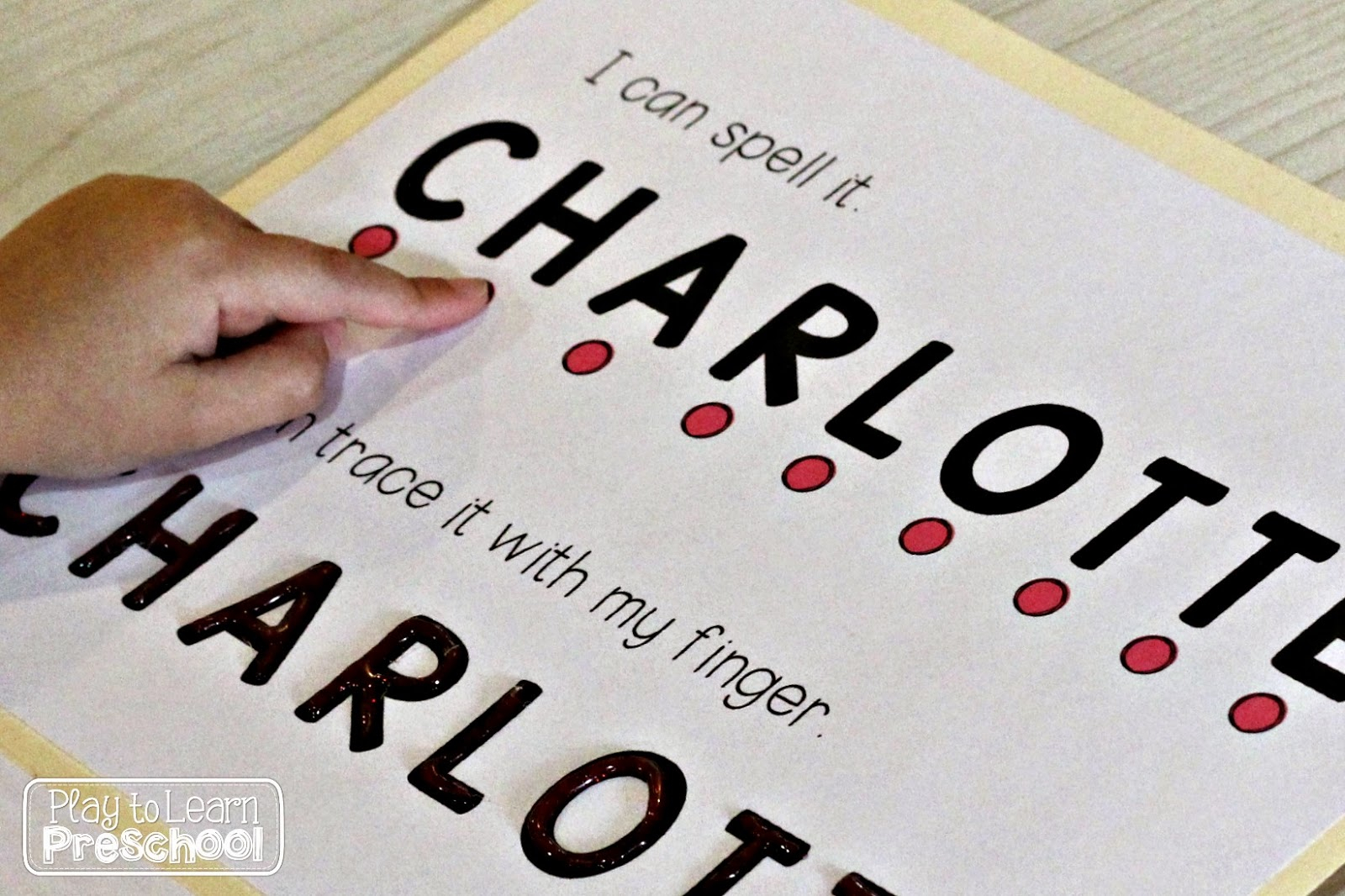 Name Folders: A Portable, Hands-On Way To Learn for Name Tracing Charlotte