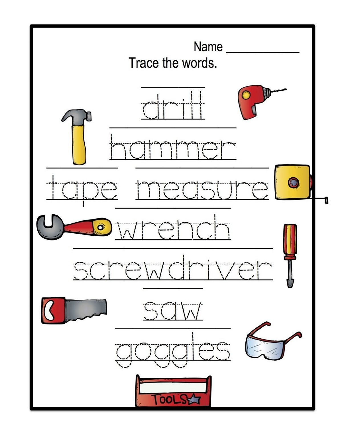 Name Trace Worksheets Easy | Name Tracing, Preschool for Name Tracing Letters