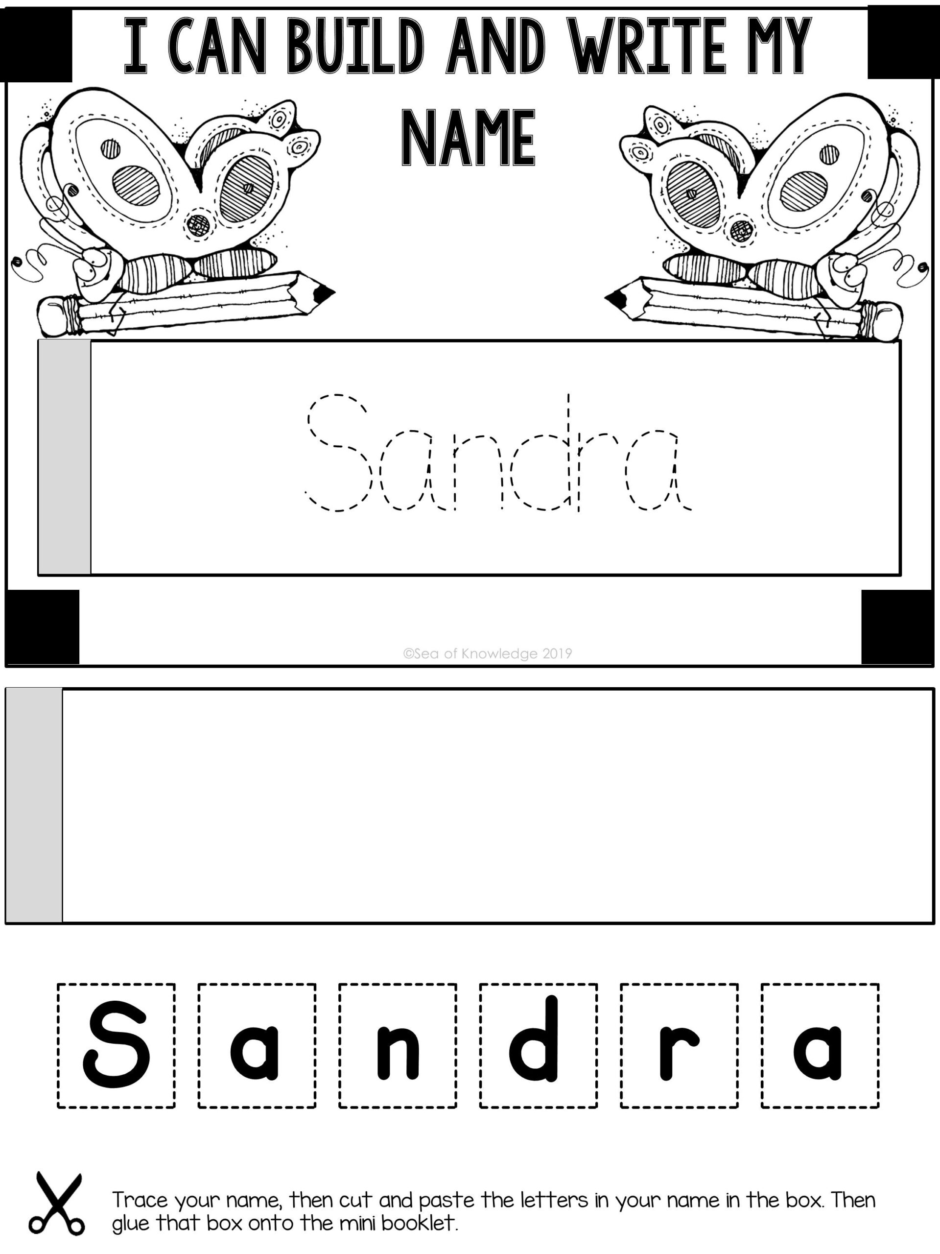 Name Tracing Editable Mini Books Bundle   Mini Books, Mini in Name Tracing Booklet