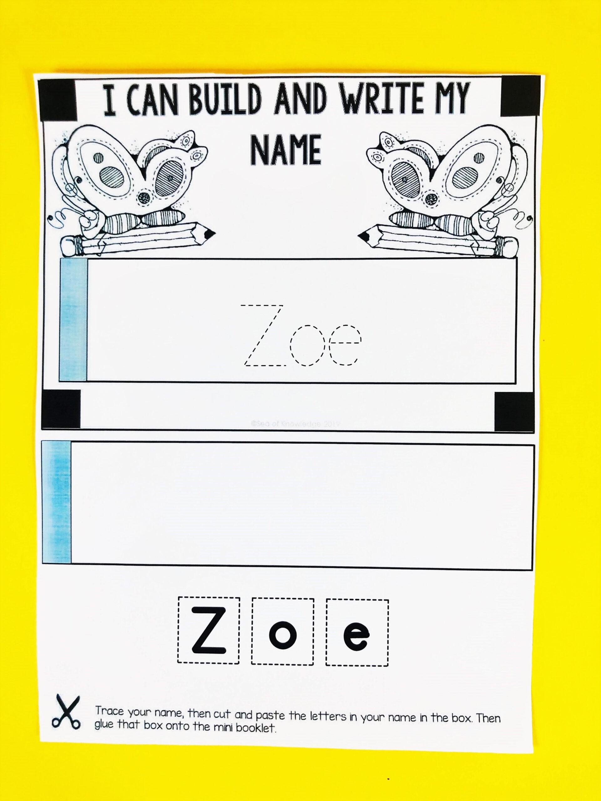 Name Tracing Editable Mini Books Bundle | Mini Books throughout Name Tracing Book