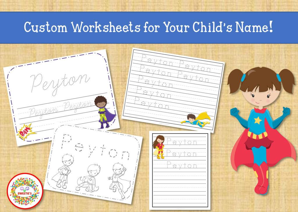 Name Tracing Handwriting Worksheet Personalized Name | Etsy