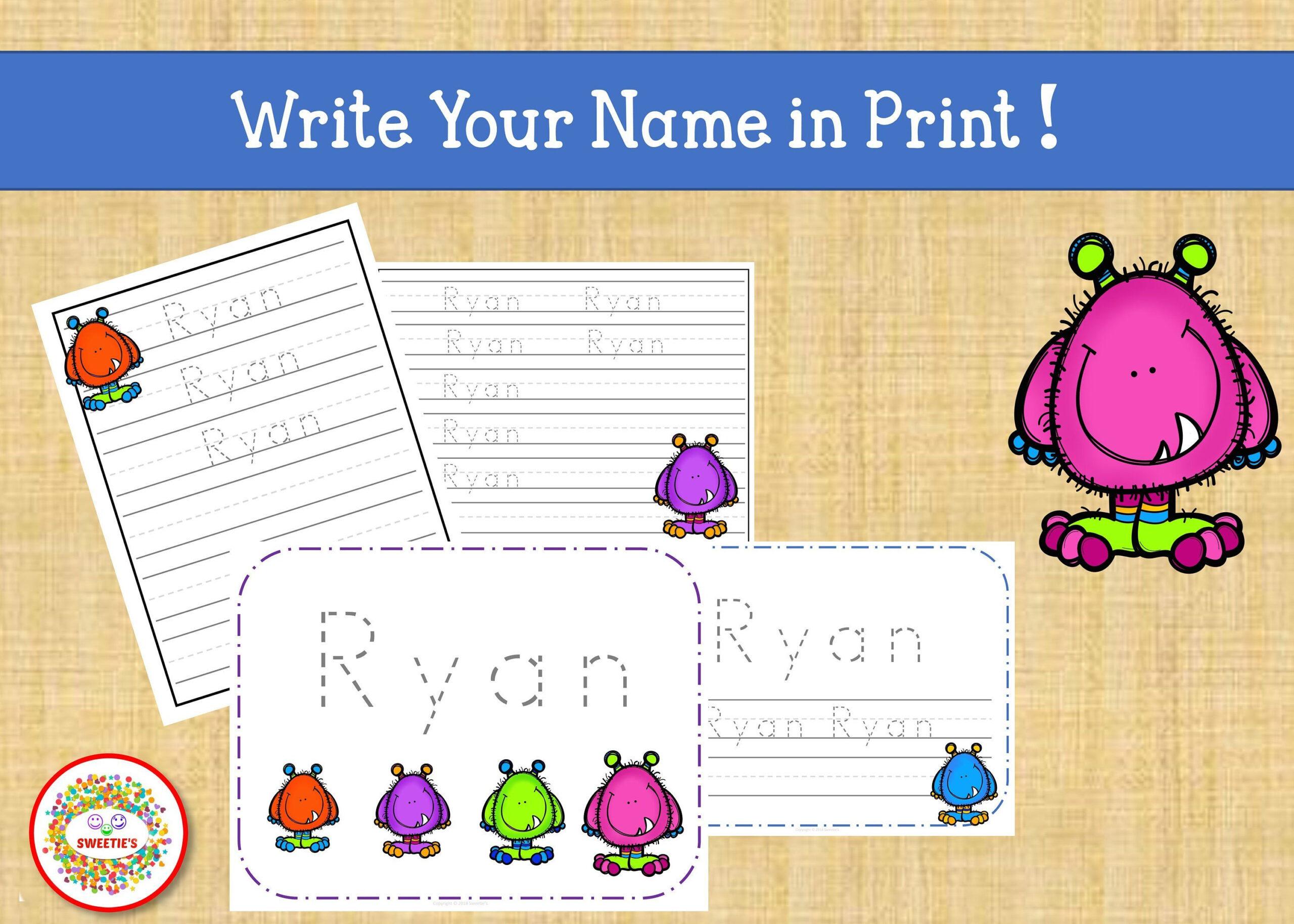 Name Tracing Handwriting Worksheet Personalized Name | Etsy pertaining to Tracing Name Ryan