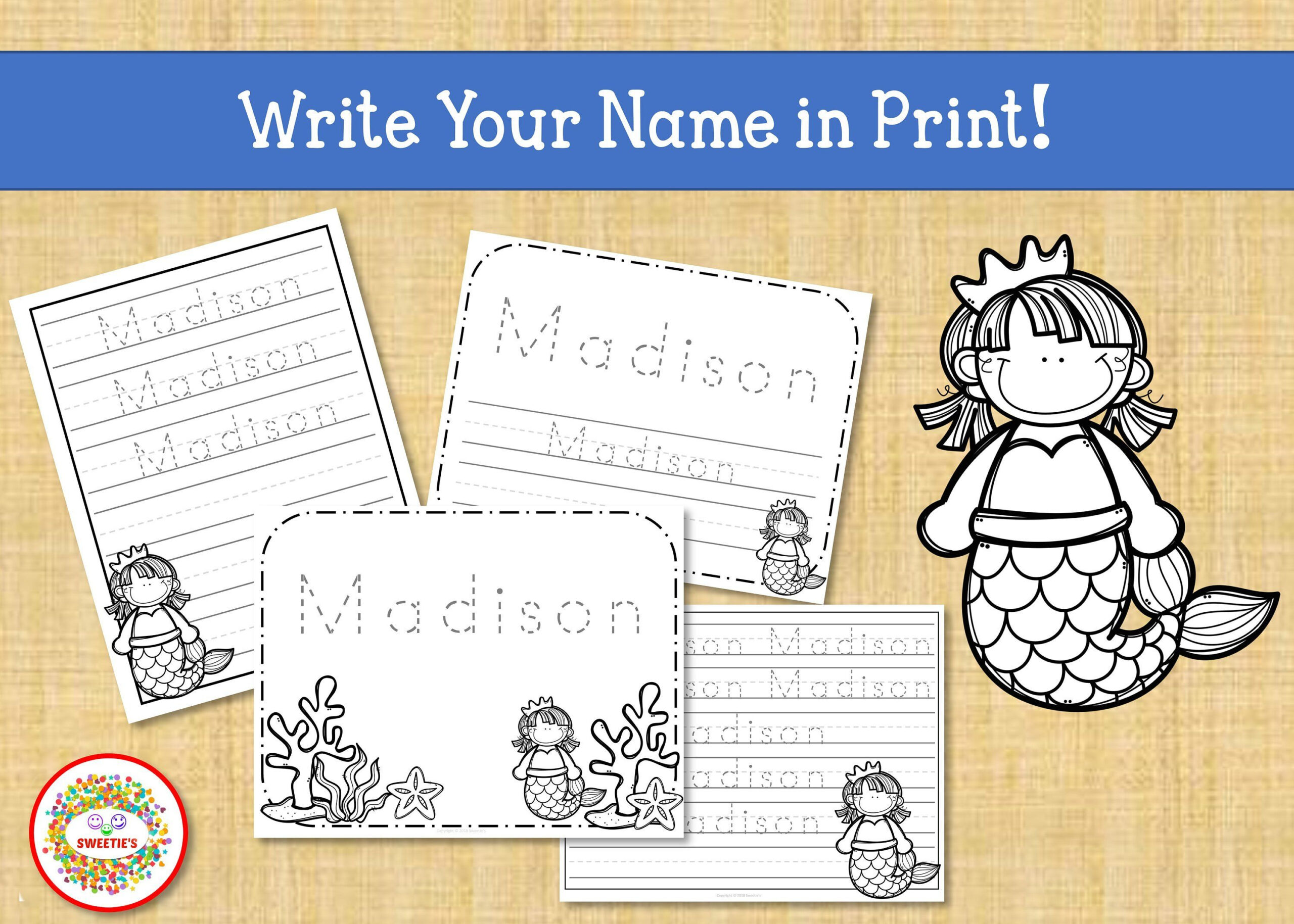 Name Tracing Handwriting Worksheet Personalized Name | Etsy regarding Tracing Name Madison