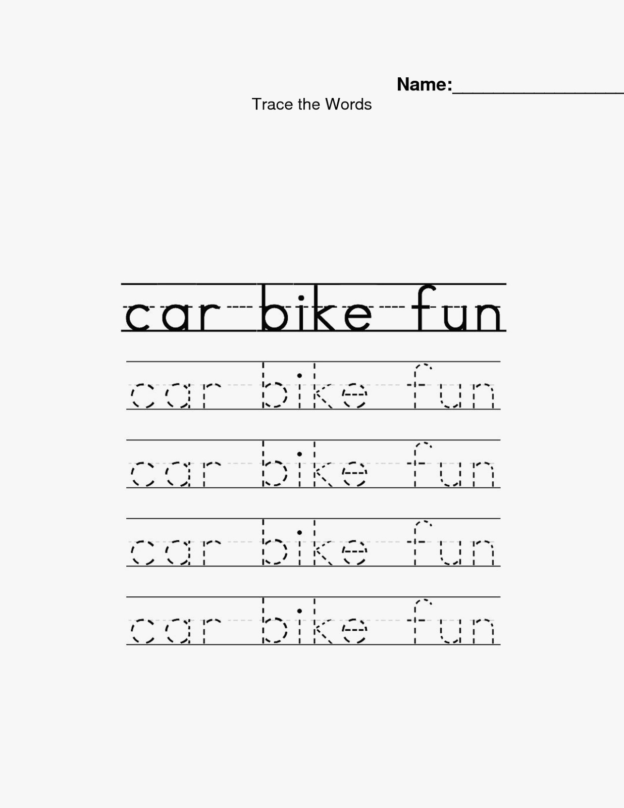 Name Tracing Worksheets For Preschoolers Free Templates