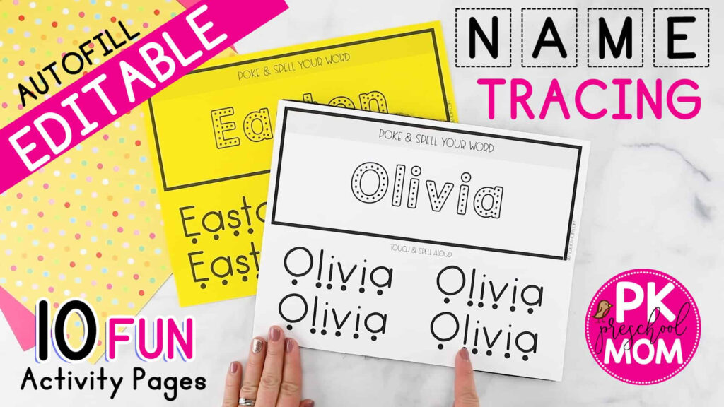 Name Tracing Worksheets   Preschool Mom Within Name Tracing Olivia