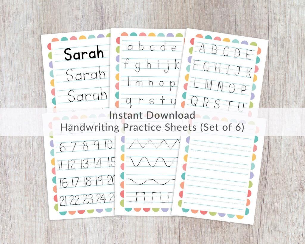 Name Tracing Worksheets Prints. Printable Handwriting In Name Tracing Chalkboard