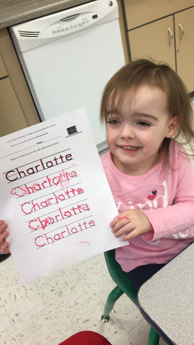 """Naomi Paulsen On Twitter: """"charlotte Did An Awesome Job in Name Tracing Charlotte"""