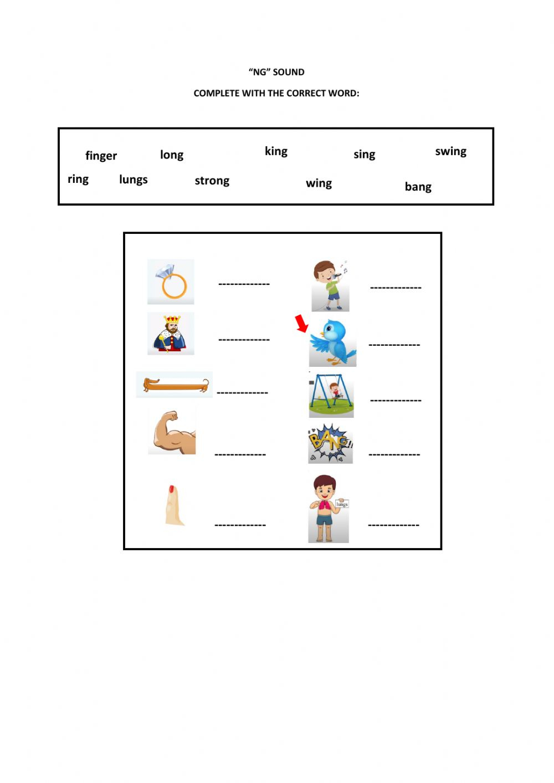Ng Sound Worksheet pertaining to Letter Ng Worksheets