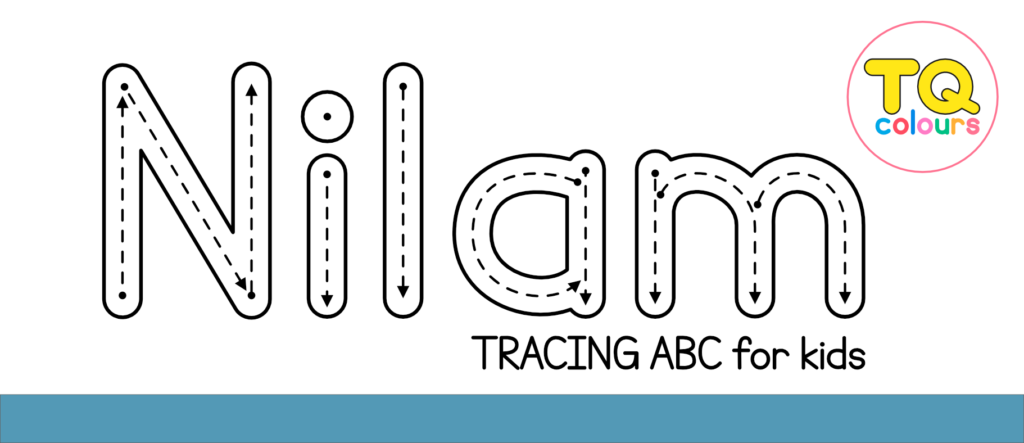 Nilam Tracing Abc Font   Free For Personal For Name Of Tracing Font