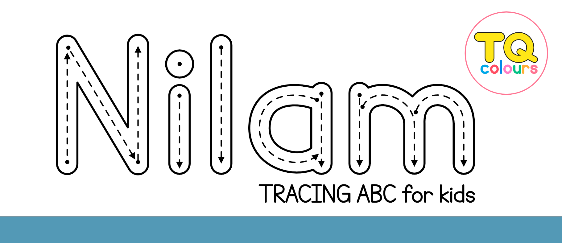 Nilam Tracing Abc Font - Free For Personal for Name Of Tracing Font