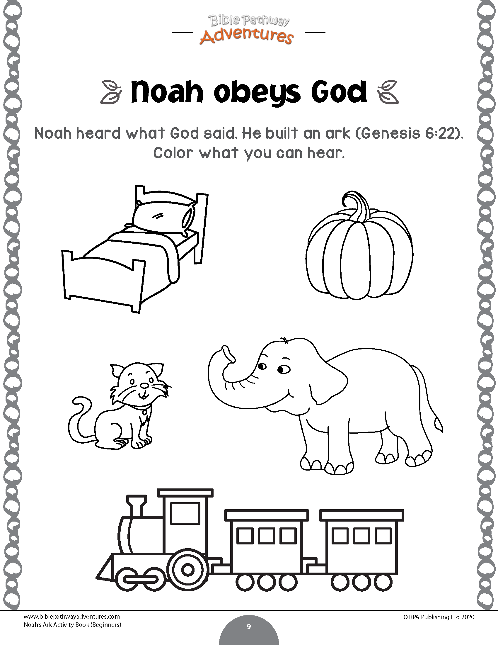 Noah's Ark Activity Book For Beginners – Bible Pathway intended for Name Tracing Noah