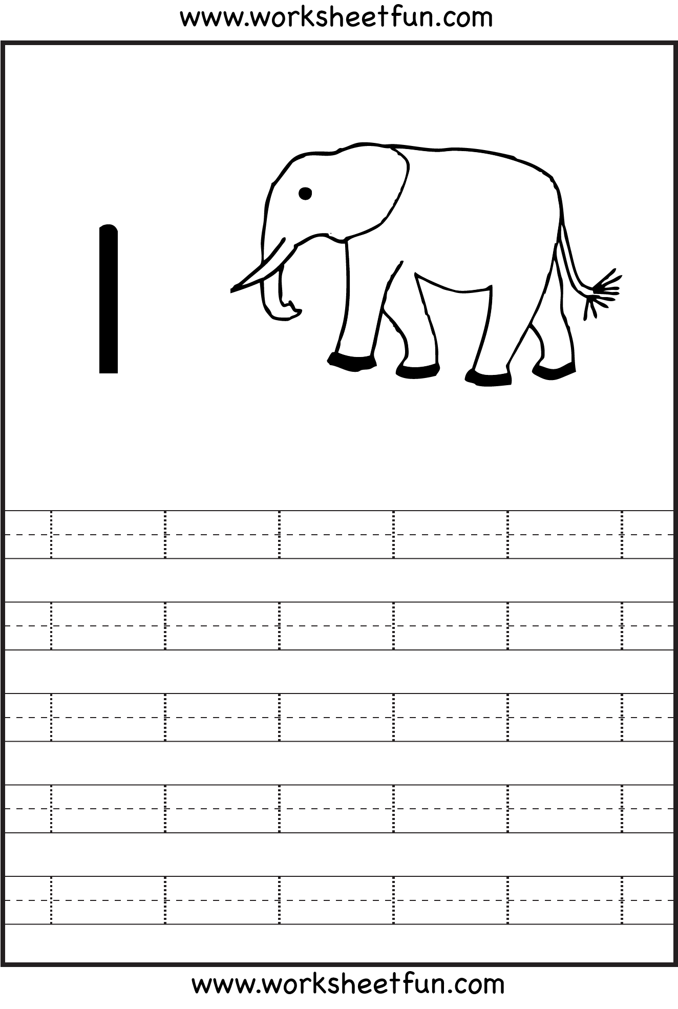 Number 1 Tracing Worksheets Preschool | Tracing Worksheets