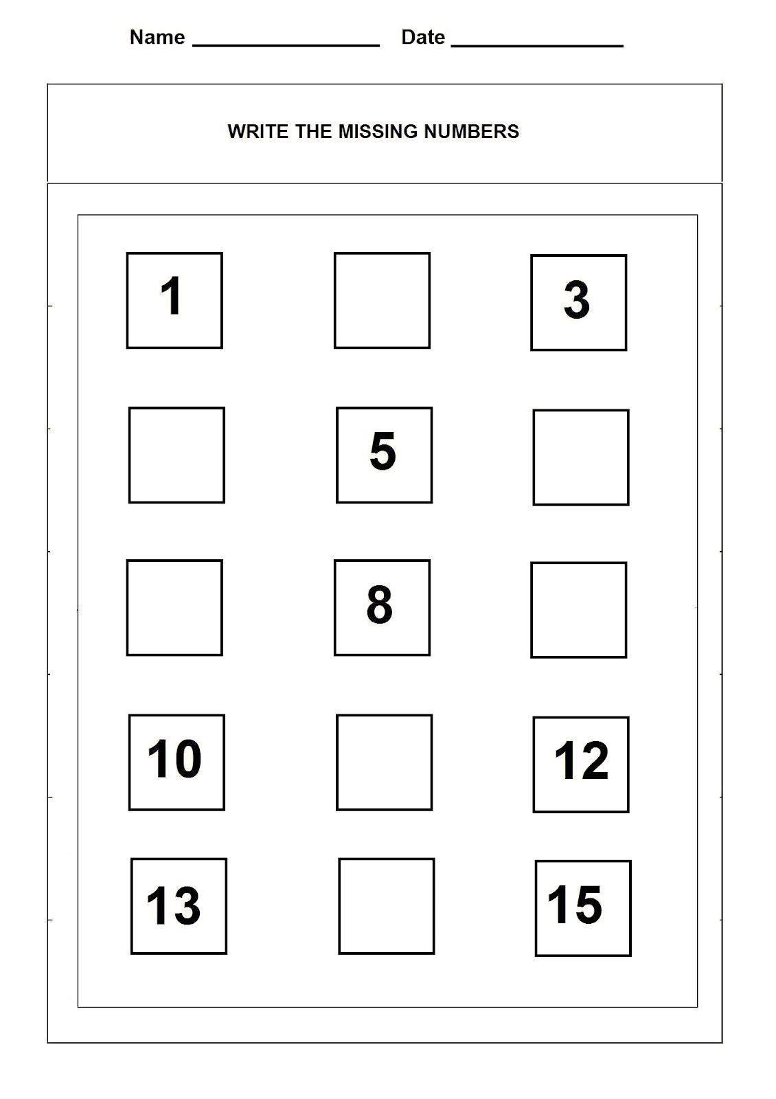 Number 15 Worksheet For Numbering Lesson | Preschool