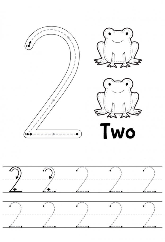 Number 2 Tracing Worksheets | Learning Printable | Numbers