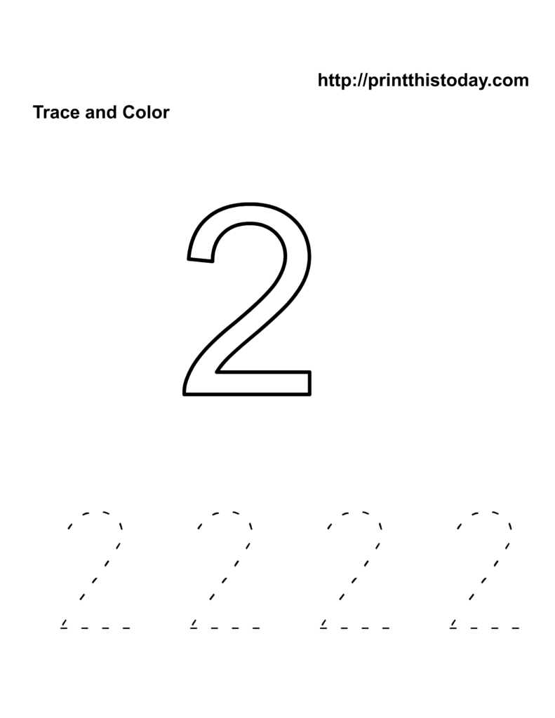 Number 2 Worksheet | Kids Activities