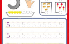 Kindergarten Number Tracing Worksheets